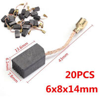 20pcs 6mmx8mmx14mm Electric Motor Copper Carbon Brushes Set For Angle Grinder