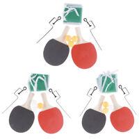 1 Pair Professional Table Tennis Ping Pong Racket Paddle + 3 Balls +Net Set