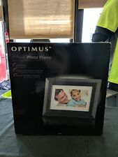 "Optimus 7"" Digital Photo Frame Reads xD, SD, NMC, MS cards Black 07A08"