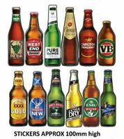SET OF BEER BOTTLES XXXX Gold Beer  VB Beer Can  Sticker  Bar Fridge Car sticker