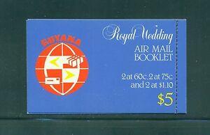 Guyana 1981 Reale Matrimonio Libretto Cucito Destro Sg SB11