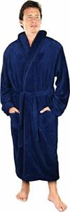 Men Robe Men Bath Robe Shawl Collar Fleece Bathrobe  in LOT   NY Threads