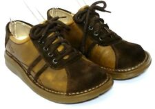 Dr. Martens 8A70 Shoes Size 5  Suede Bicycle Toe Brown Leather Laced