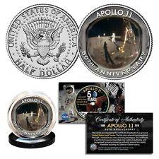 APOLLO 11 50th Anniversary Moon Landing FACE SHIELD Reflection Genuine JFK Coin