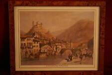 Le chateau de Foix (Ariege) - W. Oliver - Reproduction encadrée