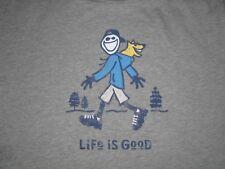MEN'S LIFE IS GOOD S/S HOODIE ROCKET  T--SHIRT SIZE XL