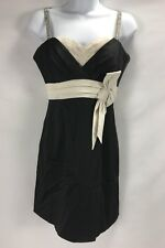 BCBG Maxazria Dress Black Beige And Stone Straps Size Small