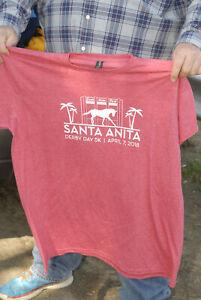 Santa Anita Derby Day 2018 t shirt Horse Racing Los Angeles Mint- nm+ 2xl soft