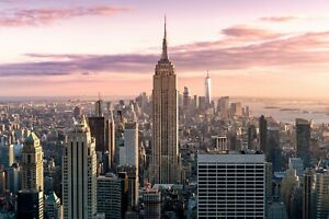 Empire State Building Skyscraper New York Wall Art Large Poster / Canvas Picture