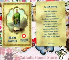 Saint St. Patrick with Irish Blessing  - Relic Paperstock Holy Card