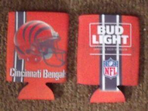 Cincinnati Bengals (National Football League) Bud Light Beer 12 oz can koozie