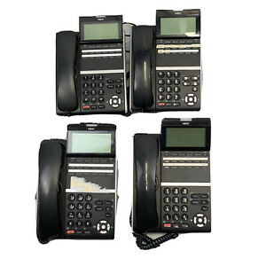 4x NEC DT300 Series Digital Business Office Telephone DTL-12D-1P(BK) Tested Used