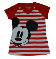 LAST 2  Disney Junior Size MINNIE MOUSE Big Face Black Junior V-neck T free ship