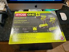 RYOBI Combo Tool 2-Tools 18-Volt Battery Cordless Charger Keyless Chuck Bag New!