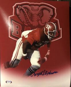 DWIGHT STEPHENSON Signed Autographed Auto 11x14 Photo Alabama Crimson Tide PSA