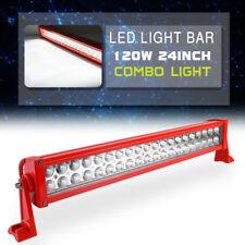 "24 inch 120w Led Light Bar Spot Flood Combo Work Boat UTE Truck SUV ATV 4WD 20"""