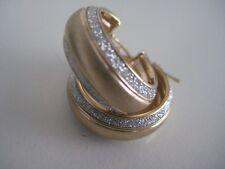 Pendientes de oro amarillo purpurina 9 Quilates TRIPLE Polvo lunar Diamante