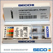 CCMT 32.51 MF2 TP2501 SECO ** 10 INSERTS *** FACTORY PACK ***