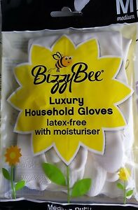 Bizzybee Deluxe Latex Free, M/ 8 UK, washing up gloves Household FREE UK POST