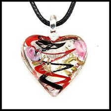 Fashion Women's Love lampwork Murano art glass beaded pendant necklace #M45