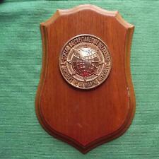 OLD Merchant Navy ULTRAMAR CAPTAINS MASTER MARINERS Ship Crest Shield Plaque