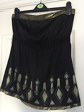 Warehouse Silk Sleeveless Bandeau for Women
