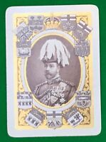 Playing Cards Single Card Old Antique Wide KING GEORGE V Royal Royalty CANADA 2