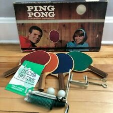 Parker Brothers Vintage 1965 Ping Pong / Table Tennis Set