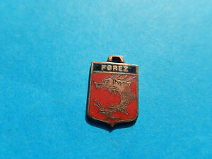 Vintage Enamel french Travel Shield Charms FOREZ FISH MEDIEVAL DOLPHIN VTUSA