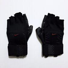 NIKE Men's Weight Lifting Training Gloves Gym Workout Wrist Straps S Black NWOT✅