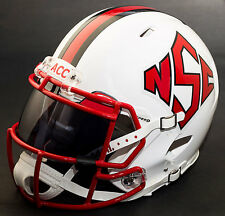 *CUSTOM* NORTH CAROLINA NC STATE WOLFPACK Riddell SPEED Replica Football Helmet