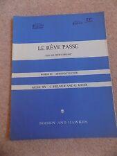 Le Reve Passe Armand Foucher Chelmer & Krier Vintage Sheet Music Song Book 1950