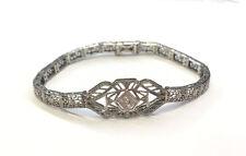 14k White Gold Vintage Diamond Bracelet