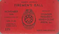 1932  4TH ANNUAL HAMDEN FIREMEN'S BENEVOLENT ASS'N TICKET # 128, HAMDEN CONN