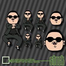 Gangnam Style Party Pack - 7 Vinyl Decal Sticker PSY MEME Funny Korea Rap JDM