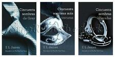 Fifty Shades of Grey + 50 Shades Darker + 50 Shades Freed Spanish Trilogy NEW!