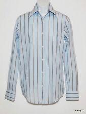 New DOLCE & GABBANA Italy Long Sleeve Dress Shirt Top ~Blue Stripe *15-38