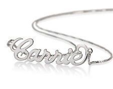 Sterling Silver Personalized Name Necklace - Custom Made Any Name