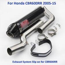 Slip on Full Exhaust System Muffler Front Middle Pipe For Honda CBR600RR 2005-15