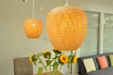 Handmade Rattan Lampshade, Pendant Or Table Shade, Apple Shape, Brown, L002