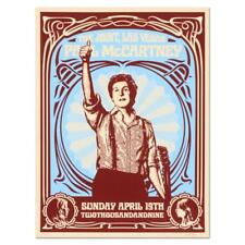 SHEPARD FAIREY PAUL MCCARTNEY BEATLES HARD ROCK CAFE SHOW SIGNED SILKSCREEN RARE