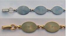 Lot of 5 BRACELET Blanks Forms (4 SILVER + 1 GOLD) 6 OVAL PADS 20mm per bracelet