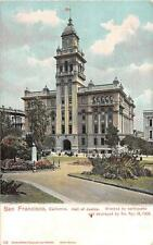 SAN FRANCISCO CALIFORNIA EARTHQUAKE HALL OF JUSTICE POSTCARD 1906 *