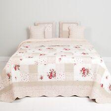 Quilt Patchwork Q103.062 260 x 260 cm Überwurf Tagesdecke beige rosa rot