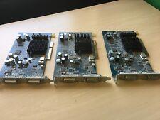 (W) Lot of 3 - Genuine Apple Mac ATi 9600 Pro 128mb AGP Video Card DVI x2
