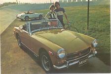 MG Midget for 1973 Original colour Factory Postcard USA issued