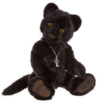 Sheba collectable plush jointed black panther teddy by Charlie Bears - CB161627