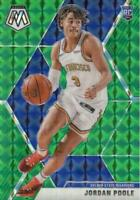 2019-20 Panini Mosaic Rookies Green Prizm Jordan Poole #228 Rookie