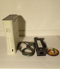 Microsoft Xbox 360 White Console Cables Games