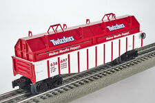 Lot 4155 Lionel ouvert wagons Twizzlers avec couvercles amovibles